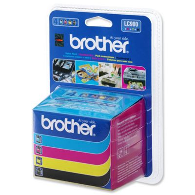 Brother LC900 Value Pack Print Cartridge (Black, Yellow, Cyan, Magenta)