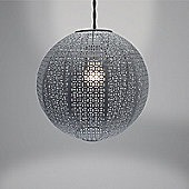 Country Club Metal Light Shade, Nouveau Cadiz Ball Grey