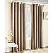 Enhanced Living Vogue Eyelet Curtains - Latte