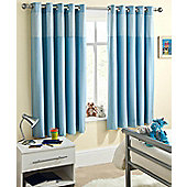 Enhanced Living Sweetheart Blue Eyelet Curtains - 66x90 Inches (168x229cm)