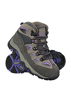 Mountain Warehouse Boys Durable Boots with Mesh Upper and Hardwearing Outsole - Purple