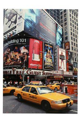 Premier Housewares New York Yellow Cab Printed Canvas Art