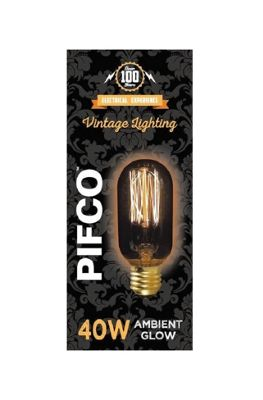 Pifco 40 Watt E27 ES Vintage Tubular Retro Light Bulb