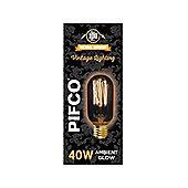 Pifco 40 Watt E27 ES Vintage Tubular Retro Light Bulb