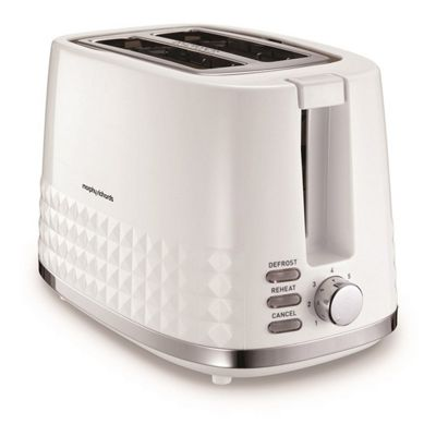 Morphy Richards-220023 Dimensions 2 Slice Toaster with 850W Power in White