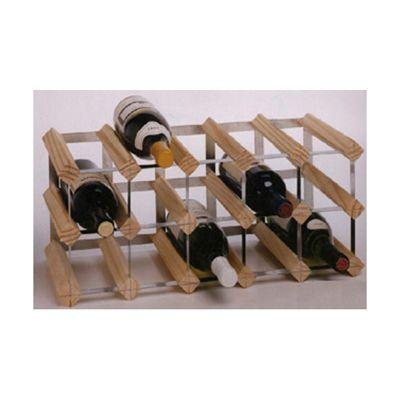 George Wilkinson 15 Bottle Wine rack Kit - Pine / Galvanised Steel