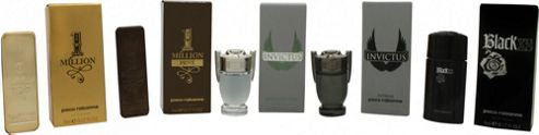 Paco Rabanne Miniatures Gift Set 5ml 1 Million EDT + 5ml 1 Million Prive EDP + 5ml Invictus EDT + 5ml Invictus Intense EDT + 5ml Black XS EDT For Men