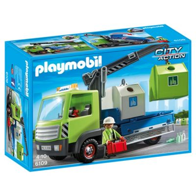 Playmobil 6109 City Action City Cleaning Glass Sorting Truck