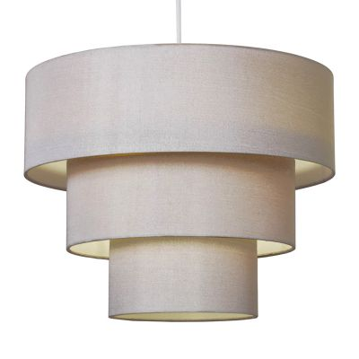 Vermont 3 Tier Ceiling Pendant Light Shade, Champagne Gold