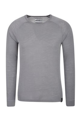 Mountain Warehouse Merino Mens Long Sleeved Round Neck Top ( Size: XS )