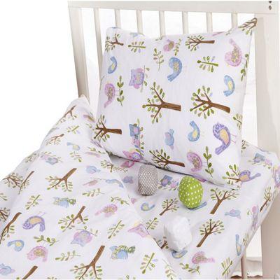 Children's 100% Cotton Duvet Cover Set- Owls