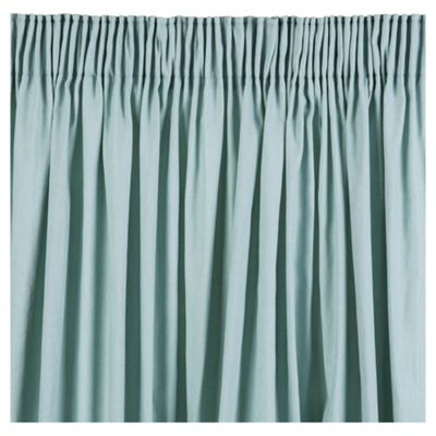 Plain Canvas Pencil Pleat Curtains, Eau de Nil (64 x 90'')