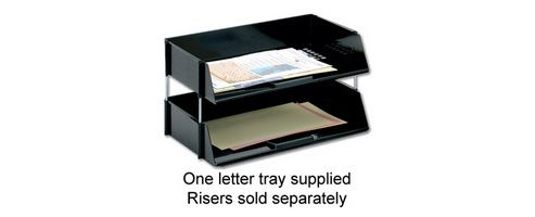 Q Connect Wide Entry Letter Tray Black