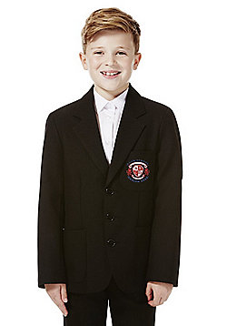 Boys Embroidered Blazer - Black