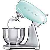 Smeg SMF01PGUK | 50's Retro Kitchen Style Cake & Dough Stand Mixer in Pastel Green