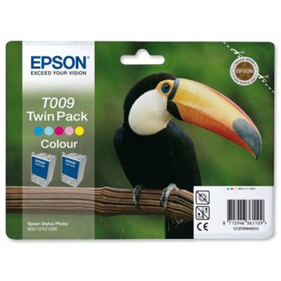 Epson T009 (Twin Pack) Five Colour Ink Cartridge (Cyan/Light CyanMagenta /Light Magenta/Yellow/Black) for Stylus Photo 1270 Printer