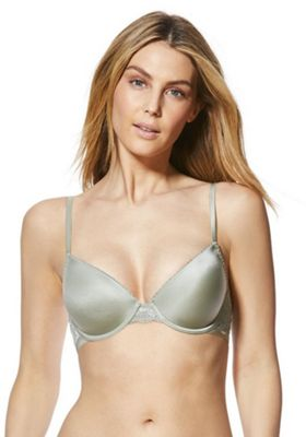 F&F Perfect Lace Wing T-Shirt Bra Green 38 C cup