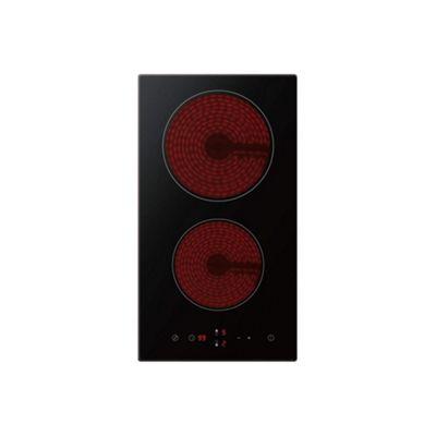ElectriQ 30cm Domino Touch Control 2 Zone Ceramic Hob Black