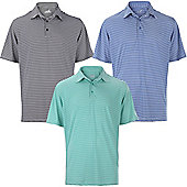 Woodworm Tournament Stripe Golf Mens Golf Polo Shirts 3 Pack - Multi