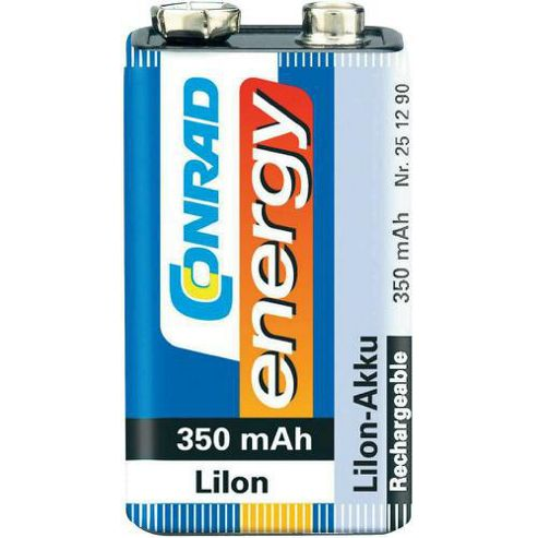 Conrad 9V Li-Ion Cylindrical Battery 350Mah 1
