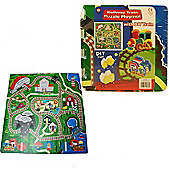 Train Puzzle Mat - 92 x 92 cm