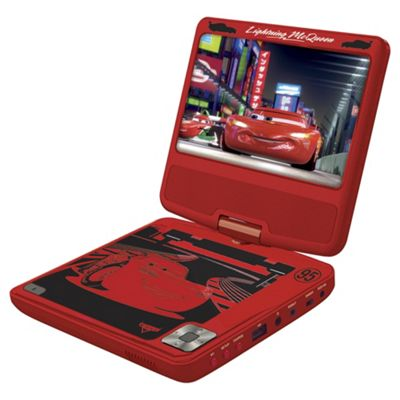 Lexibook Cars 7 Inch Portable DVD Player