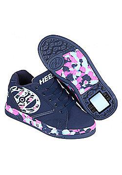 Heelys Propel 2.0 Navy/Pink/Light Blue/Confetti Kids Heely Shoe - Blue