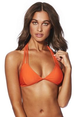 South Beach Strappy Triangle Bikini Top Orange 8