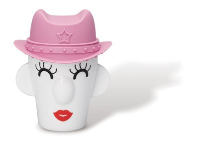 PO: Cow Girl Double Wall Porcelain Mug with Silicone Hat