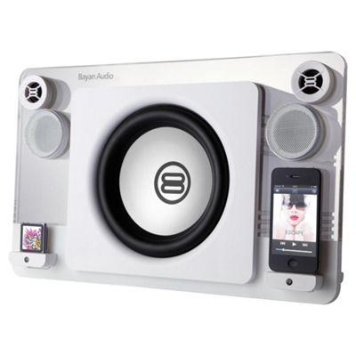 Bayan 7 White Dual Dock Speaker 120W