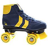 Rookie Retro Blue/Yellow Quad Roller Skates - Blue
