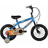 """Bumper Stunt Rider 16"""" Wheel Pavement Bike Blue/Orange Stabilisers"""