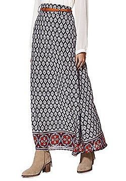 Stella Morgan Paisley Print Belted Maxi Skirt - Multi