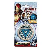 Monogram Marvel Iron Man Arc Reactor Pewter Key Ring