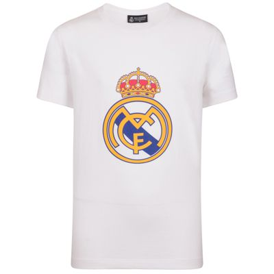 Real Madrid Boys Crest T-Shirt White 10 Years