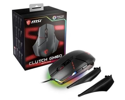 MSI Clutch GM60 RGB Wired Gaming Mouse - Black