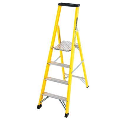 TB Davies Trade GRP Fibreglass 4 Tread Platform Step Ladder