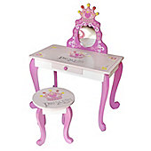 Bebe Style Wooden Princess Dressing Table & Stool - Pink