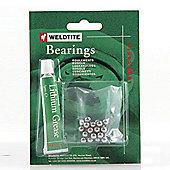"Weldtite 3/16"" Ball Bearings & Grease (36 Balls)"