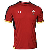 Under Armour Wales Rugby WRU Training Tee 15/16 - Red - Red