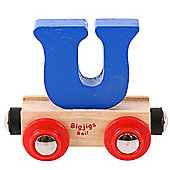 Bigjigs Rail Rail Name Letter U (Dark Blue)