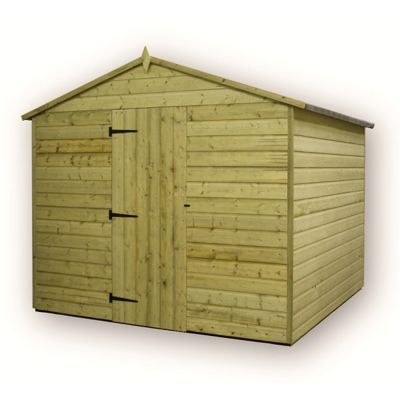 8 x 8 Maldon Premier Windowless Pressure Treated T&G Apex Shed + Higher Eaves & Ridge Height + Single Door (8ft x 8ft)