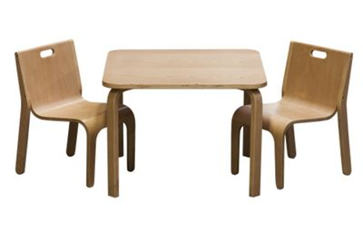 First Baby Safety York Table and Chair Set - Natural Wood