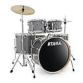 Tama Rhythm Mate 5 Piece Drumkit With HiHats And CrashRide Cymbal Galaxy Silver