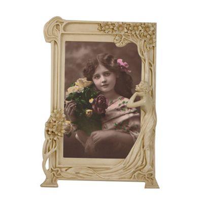 Art Nouveau Cream Clay Paint Photo Frame Width: 27cm