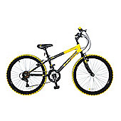 "Concept Wolverine 24"" 18 Spd HT MTB Bike Yellow"