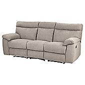 Berkley Large 3 Seater Recliner Sofa - Taupe