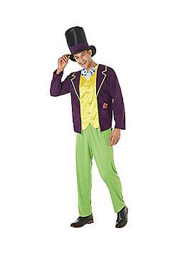 Roald Dahl Willy Wonka Adult Fancy Dress Costume - Purple