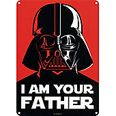 Star Wars I Am Your Father Mini Tin Sign 15x21cm