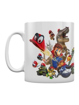 Super Mario Odyssey Cap Montage Boxed 10oz Ceramic Mug, White